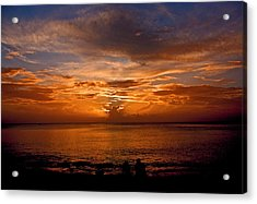 Lovers Sunset Acrylic Print by Martin Morehead