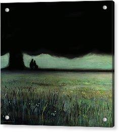 Lovers Tree Acrylic Print by Antonio Ortiz