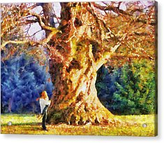 Lovers Tree Acrylic Print by Jai Johnson