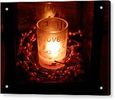 Love's Glow Acrylic Print