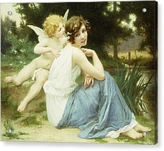 Love's Whisper Acrylic Print by Guillaume Seignac