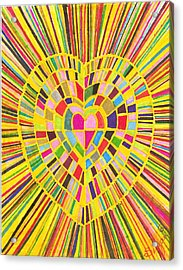 Loveshine Acrylic Print by Brenda Adams