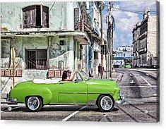 Lovin' Lime Green Chevy Acrylic Print