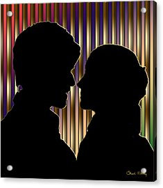 Acrylic Print featuring the digital art Loving Couple - Chuck Staley by Chuck Staley