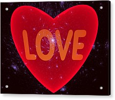 Loving Heart Acrylic Print
