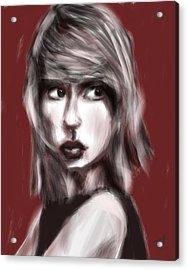 Loving Him Was Red Acrylic Print