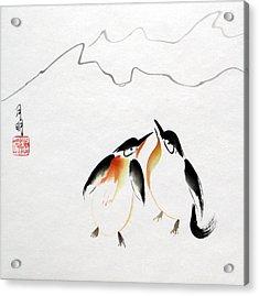 Loving Pair Acrylic Print by Ming Yeung