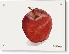 Acrylic Print featuring the digital art Loving The Big Apple by Barry Jones