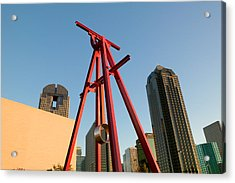 Low Angle View Of A Sculpture, Dallas Acrylic Print by Panoramic Images