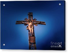 Low Angle View Of Jesus Christ Statue Acrylic Print