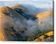 Low Clouds Between Hills Acrylic Print by Marc Crumpler