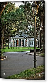 Low Country Wedding Chapel Acrylic Print by Margaret Palmer