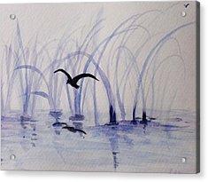 Low Flight Acrylic Print by Trilby Cole