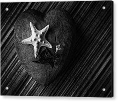 Low Key Heart And Starfish Acrylic Print