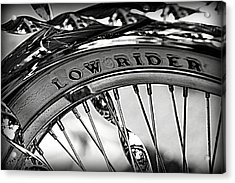 Low Rider In Black And White Acrylic Print by Tam Graff