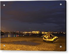 Low Tide At Dusk Acrylic Print by Hazy Apple