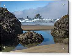 Low Tide At Ecola Acrylic Print