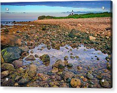 Low Tide At Montauk Point Acrylic Print by Rick Berk