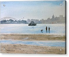 Low Tide At Rose Bay Acrylic Print