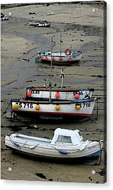 Acrylic Print featuring the photograph Low Tide At St. Ives Harbor by Carol Kinkead