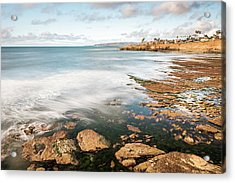 Low Tide At Sunset Cliffs Acrylic Print