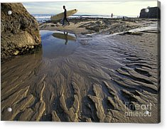 Low Tide At The Lane Acrylic Print by Stan and Anne Foster