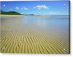 Low Tide Beach Ripples Acrylic Print