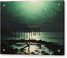 Low Tide By Moonlight Acrylic Print by WHJ Boot