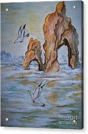 Acrylic Print featuring the painting Low Tide by Carol Grimes