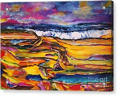 Low Tide Acrylic Print by Chaline Ouellet