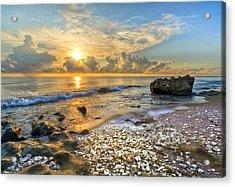 Low Tide Acrylic Print by Debra and Dave Vanderlaan