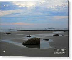 Low Tide Acrylic Print by Edward Sobuta