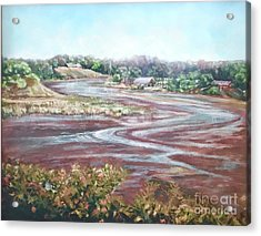 Low Tide In The Cove Acrylic Print