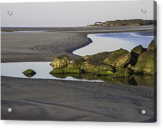 Low Tide On Tybee Island Acrylic Print by Elizabeth Eldridge