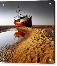 Low Tide Acrylic Print by Peter OReilly