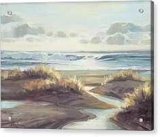 Acrylic Print featuring the painting Low Tide by Steve Henderson
