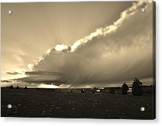 Low-topped Supercell Black And White  Acrylic Print