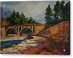 Low Water Bridge Acrylic Print