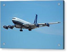 Lowa Limited Boeing 707 N88zl Acrylic Print by Brian Lockett