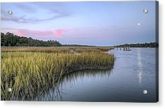 Lowcountry Marsh Grass On The Bohicket Acrylic Print by Dustin K Ryan