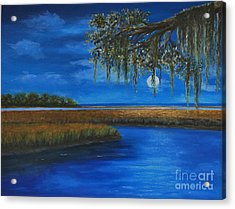 Lowcountry Moon Acrylic Print
