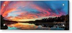 Lowcountry Sunset Charleston Sc Acrylic Print by Dustin K Ryan