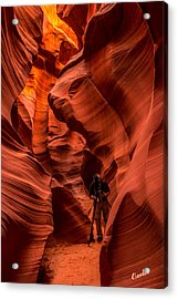 Acrylic Print featuring the photograph Lower Antelope Canyon by Claudia Abbott