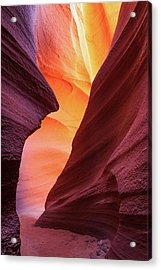 Acrylic Print featuring the photograph Lower Antelope Canyon by Johnny Adolphson