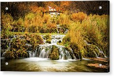 Lower Cascades At Cascade Springs Acrylic Print by TL Mair