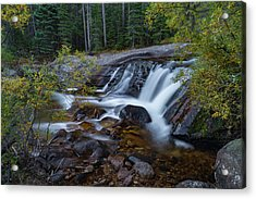 Acrylic Print featuring the photograph Lower Copeland Falls by Gary Lengyel