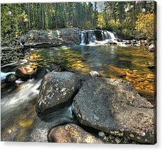 Lower Copeland Falls Acrylic Print by Harold Rau