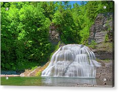 Acrylic Print featuring the photograph Lower Falls 0485 by Guy Whiteley