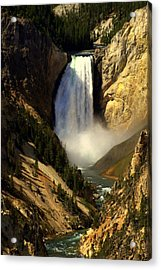 Lower Falls 2 Acrylic Print by Marty Koch