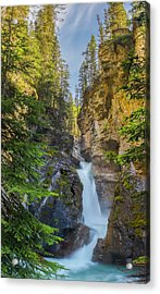 Acrylic Print featuring the photograph Lower Falls At Johnston Canyon by Owen Weber